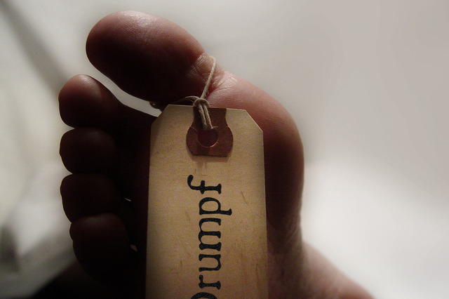 Donald Trump's Toe Tag